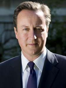 David Cameron's official portrait from the 10 Downing Street website.